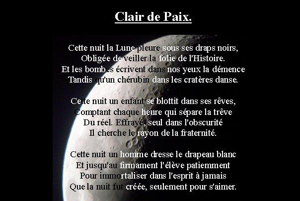 Clair De Paix Souffle Mots